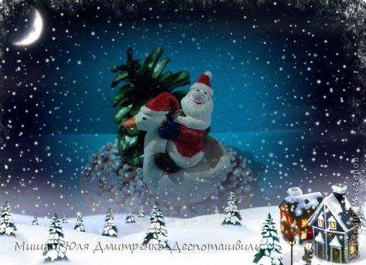 Дед Мороз уже так и шастает по Стране Мастеров, хоть за окном еще осень. Вот и ко мне заглянул. да как! На гусе! Наверное всем хотел донести, что настоящий Рождественский Гусь, это не тот, который на столе, а тот который в небе, помогает ему разносить подарочки фото 5
