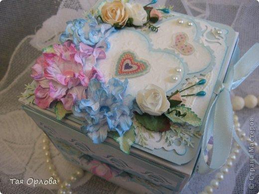 Приветик всем еще разок!На этот раз хочу показать коробочку для денежного подарка на свадьбу.Цветовая гамма -желание заказчицы. фото 12