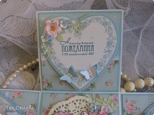 Приветик всем еще разок!На этот раз хочу показать коробочку для денежного подарка на свадьбу.Цветовая гамма -желание заказчицы. фото 6