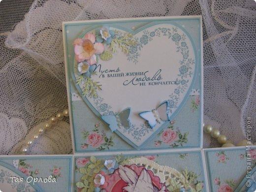 Приветик всем еще разок!На этот раз хочу показать коробочку для денежного подарка на свадьбу.Цветовая гамма -желание заказчицы. фото 7