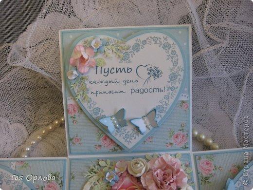 Приветик всем еще разок!На этот раз хочу показать коробочку для денежного подарка на свадьбу.Цветовая гамма -желание заказчицы. фото 8