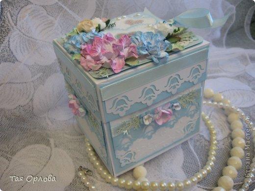 Приветик всем еще разок!На этот раз хочу показать коробочку для денежного подарка на свадьбу.Цветовая гамма -желание заказчицы. фото 13