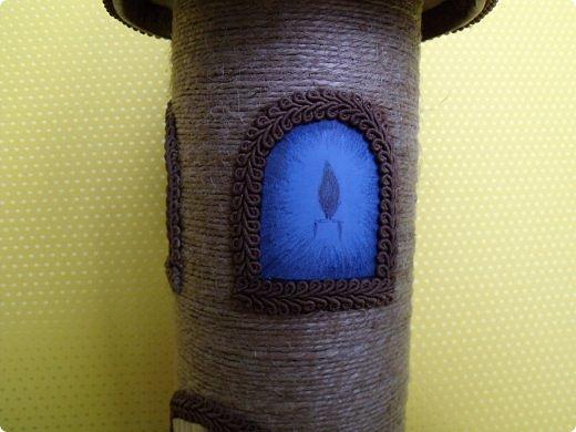 Здравствуйте, дорогие друзья! Сегодня я к вам вот с такой голубоглазой башней для спагетти. У меня была уже похожая работа, только из других материалов. Честно говоря, не всё мне здесь нравится, но что получилось - то и получилось. фото 7