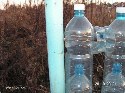 Мастер-класс Забор из пластиковых бутылок  Материал бросовый фото 7