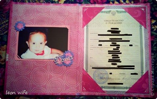 Папка для свидетельства о рождении фото 3