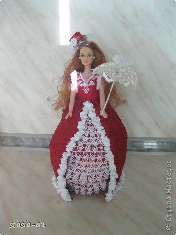 Полюбились мне куколки шкатулочки не могу остановиться их делать. Вот и родилась очередная куколка. фото 2