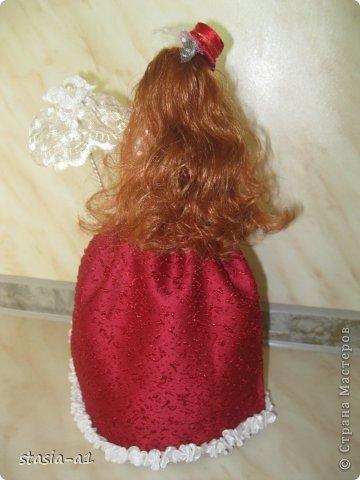 Полюбились мне куколки шкатулочки не могу остановиться их делать. Вот и родилась очередная куколка. фото 3