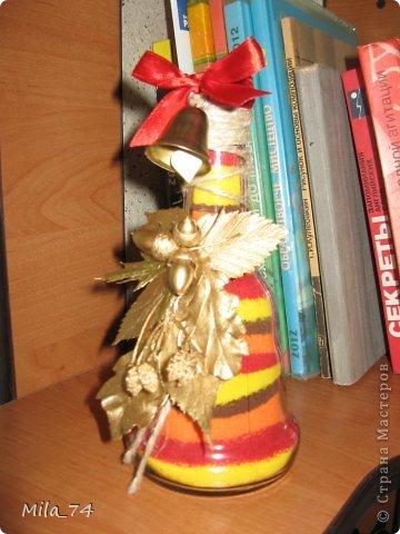 Ко дню учителя, воспользовавшись идеей Кустовой Светланы, я воплотила её  в жизнь))) и получился вот такой колокольчик для учителя...   Осеннее настроение... фото 1