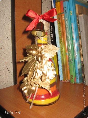 Ко дню учителя, воспользовавшись идеей Кустовой Светланы, я воплотила её  в жизнь))) и получился вот такой колокольчик для учителя...   Осеннее настроение... фото 2