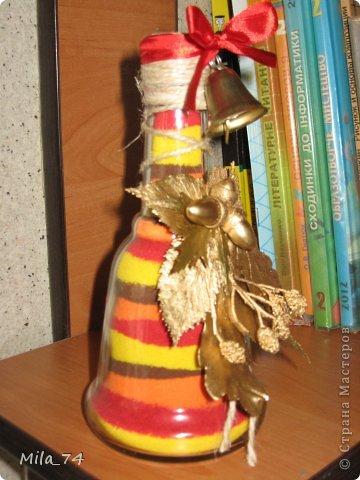 Ко дню учителя, воспользовавшись идеей Кустовой Светланы, я воплотила её  в жизнь))) и получился вот такой колокольчик для учителя...   Осеннее настроение... фото 4