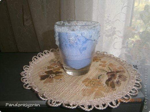 Свеча из пальмового воска. заливается в стеклянную тару. фото 2