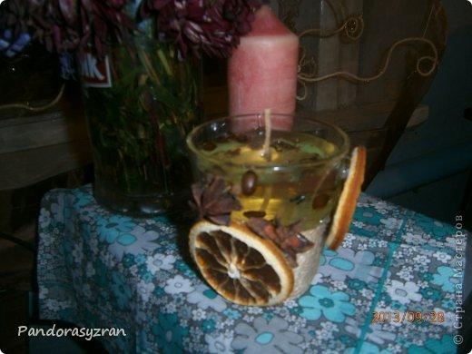 Свеча из пальмового воска. заливается в стеклянную тару. фото 4
