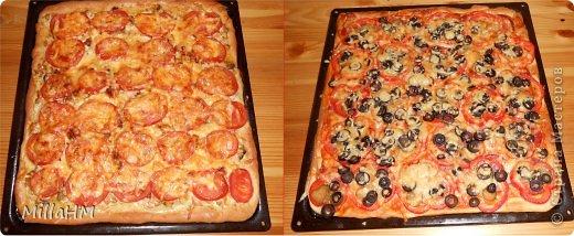 Ну, дорогие, садитесь поближе: наконец-то у меня выходной! Сегодня мы будем готовить две пиццы: с красной рыбкой и сервелатом  - одна вкуснее другой! А вот какая вкуснее - пусть каждый решит сам!  фото 1
