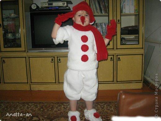 Детские костюмы снеговика своими руками фото