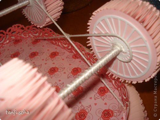 Мастер-класс Поделка изделие День рождения Оригами китайское модульное Kоляска из бумаги Бумага Картон Клей Ленты фото 22