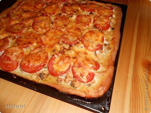 Ну, дорогие, садитесь поближе: наконец-то у меня выходной! Сегодня мы будем готовить две пиццы: с красной рыбкой и сервелатом  - одна вкуснее другой! А вот какая вкуснее - пусть каждый решит сам!  фото 24
