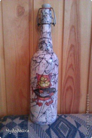 Вот такая бутылочка соорудилась в выходные фото 1