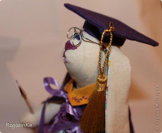 Наконец закончила заю. Она профессор сказочных наук, поедет на Кипр, что особенно приятно) Будет еще добавлена одна фишка, фото выложу завтра. фото 14