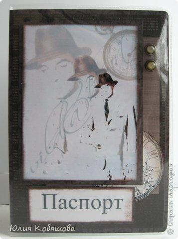 Это снова я. Хочу показать вам сегодня еще обложки на паспорт, которые сделала на днях. Первая. фото 11