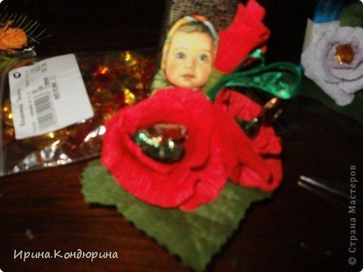 таким конфетным букетом можно оформить коробку конфет фото 4