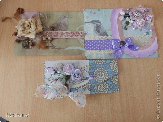 Наделались пара открыточек с птичками и конвертик. фото 1