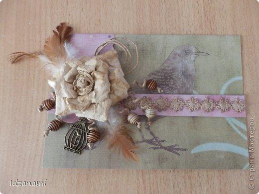 Наделались пара открыточек с птичками и конвертик. фото 4