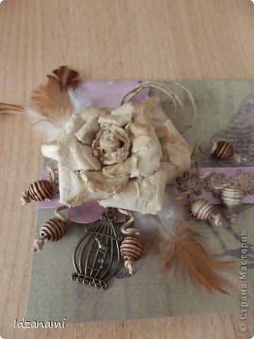Наделались пара открыточек с птичками и конвертик. фото 5