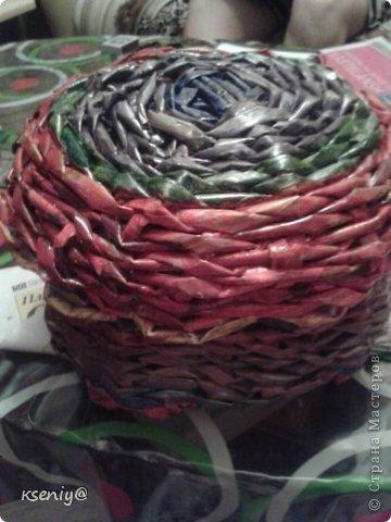 Коробочка плетение из газеты фото 1