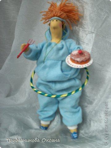 Кукла Тильда толстушка Спортивная фото 2