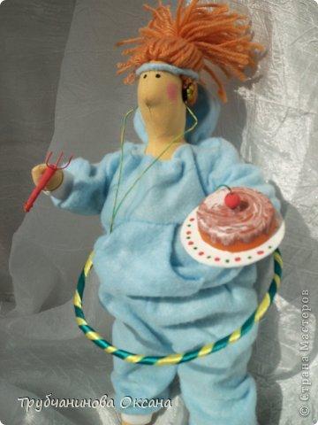 Кукла Тильда толстушка Спортивная фото 5