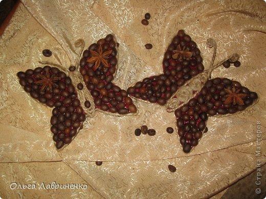 Бабочки из кофе, жгута и бадьяна фото 1