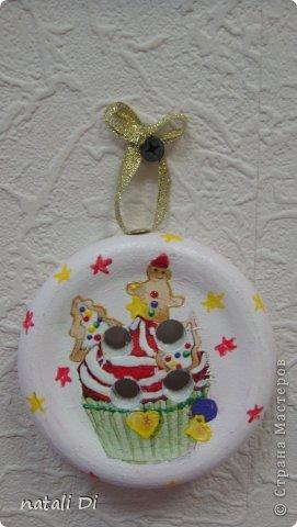 Вот такие замечательные пуговицы сделали на елку.... фото 6