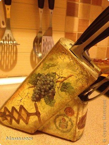 одна из первых моих работ -  обычная подставка под ножи..  фото 2