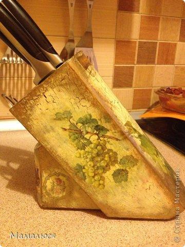 одна из первых моих работ -  обычная подставка под ножи..  фото 3