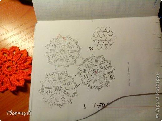 Недавно научилась вязать крючком, на уроке технологии мы делали оригиные цветочки, хочу показать и вам как их делать. фото 19