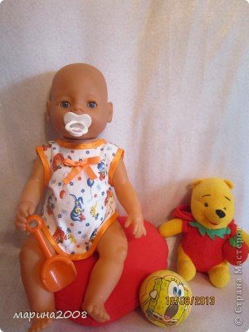 Одежда для кукол BABY BORN.Подходит для кукол-пупсов ростом 40-43см.Вся одежда выполнена вручную из натуральных качественных тканей!!!Каждая девочка будет рада такому подарку! фото 28