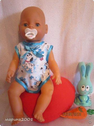 Одежда для кукол BABY BORN.Подходит для кукол-пупсов ростом 40-43см.Вся одежда выполнена вручную из натуральных качественных тканей!!!Каждая девочка будет рада такому подарку! фото 29