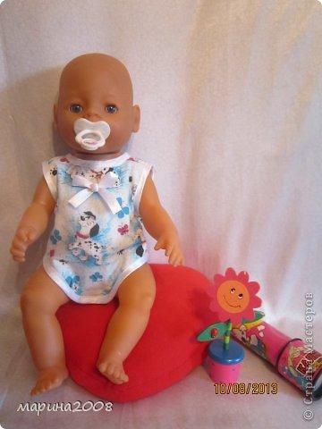 Одежда для кукол BABY BORN.Подходит для кукол-пупсов ростом 40-43см.Вся одежда выполнена вручную из натуральных качественных тканей!!!Каждая девочка будет рада такому подарку! фото 27