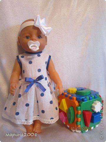 Одежда для кукол BABY BORN.Подходит для кукол-пупсов ростом 40-43см.Вся одежда выполнена вручную из натуральных качественных тканей!!!Каждая девочка будет рада такому подарку! фото 5