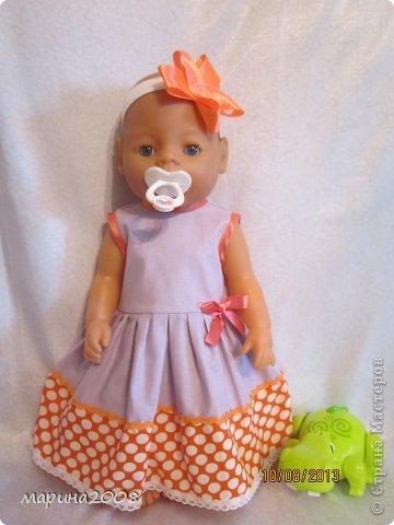 Одежда для кукол BABY BORN.Подходит для кукол-пупсов ростом 40-43см.Вся одежда выполнена вручную из натуральных качественных тканей!!!Каждая девочка будет рада такому подарку! фото 10
