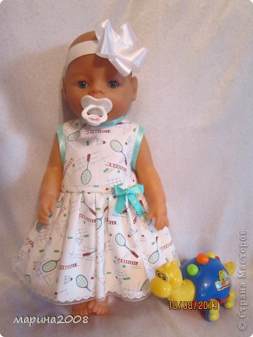 Одежда для кукол BABY BORN.Подходит для кукол-пупсов ростом 40-43см.Вся одежда выполнена вручную из натуральных качественных тканей!!!Каждая девочка будет рада такому подарку! фото 6