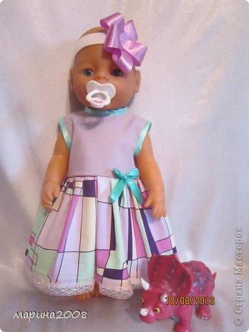 Одежда для кукол BABY BORN.Подходит для кукол-пупсов ростом 40-43см.Вся одежда выполнена вручную из натуральных качественных тканей!!!Каждая девочка будет рада такому подарку! фото 12
