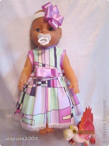 Одежда для кукол BABY BORN.Подходит для кукол-пупсов ростом 40-43см.Вся одежда выполнена вручную из натуральных качественных тканей!!!Каждая девочка будет рада такому подарку! фото 7
