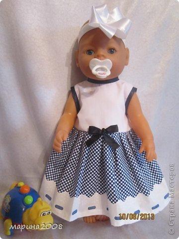 Одежда для кукол BABY BORN.Подходит для кукол-пупсов ростом 40-43см.Вся одежда выполнена вручную из натуральных качественных тканей!!!Каждая девочка будет рада такому подарку! фото 8