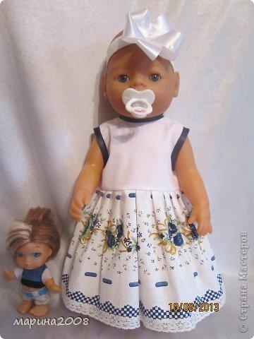 Одежда для кукол BABY BORN.Подходит для кукол-пупсов ростом 40-43см.Вся одежда выполнена вручную из натуральных качественных тканей!!!Каждая девочка будет рада такому подарку! фото 11