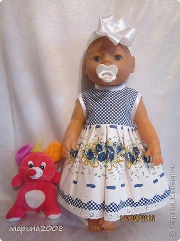 Одежда для кукол BABY BORN.Подходит для кукол-пупсов ростом 40-43см.Вся одежда выполнена вручную из натуральных качественных тканей!!!Каждая девочка будет рада такому подарку! фото 13
