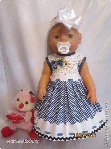 Одежда для кукол BABY BORN.Подходит для кукол-пупсов ростом 40-43см.Вся одежда выполнена вручную из натуральных качественных тканей!!!Каждая девочка будет рада такому подарку! фото 14