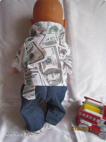 Одежда для кукол BABY BORN.Подходит для кукол-пупсов ростом 40-43см.Вся одежда выполнена вручную из натуральных качественных тканей!!!Каждая девочка будет рада такому подарку! фото 16