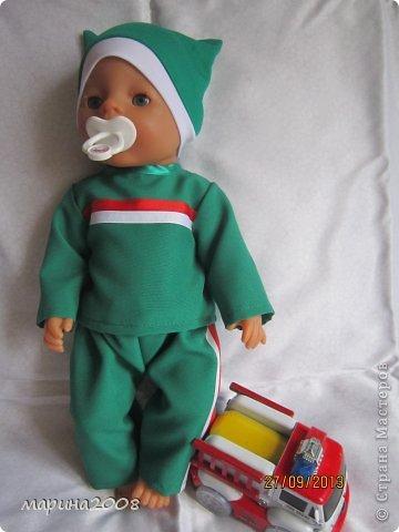 Одежда для кукол BABY BORN.Подходит для кукол-пупсов ростом 40-43см.Вся одежда выполнена вручную из натуральных качественных тканей!!!Каждая девочка будет рада такому подарку! фото 17