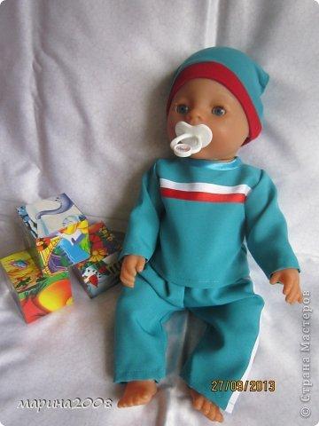 Одежда для кукол BABY BORN.Подходит для кукол-пупсов ростом 40-43см.Вся одежда выполнена вручную из натуральных качественных тканей!!!Каждая девочка будет рада такому подарку! фото 18